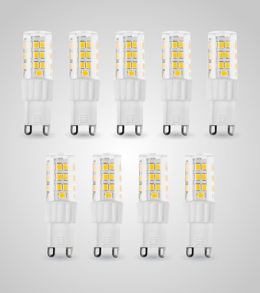 G9 LED Dimmable SMD Bulb (3.5W)(Set of 9)