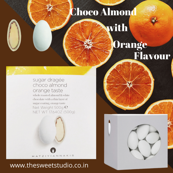 Hatziyiannakis Choco Almond Orange Flavour 500g Box