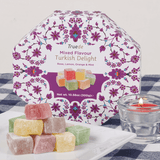 Truede Mixed Flavour Turkish Delight 300g (Rose, Lemon, Orange, Mint)