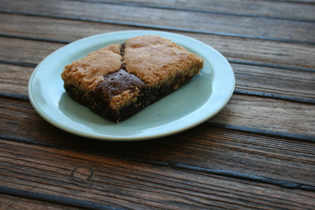 Radical Half and Half Brownies