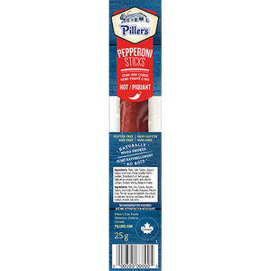 Piller's Pepperoni Sticks Hot 12 x 25g (300g)
