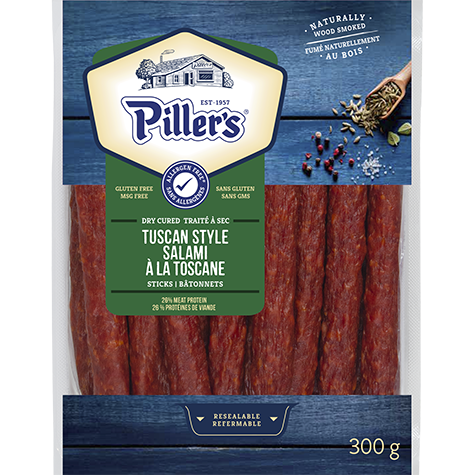 Piller's Tuscan Style Salami Sticks 300g