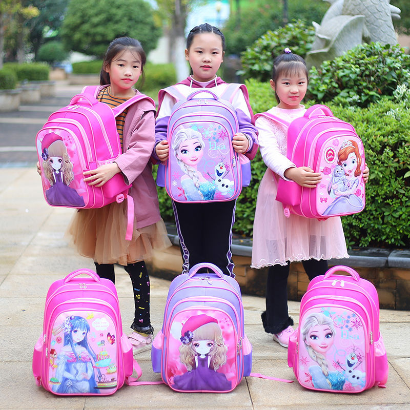 កាបូបកុមារី- Schoolbag New cartoon Sofia Snow Princess girl backpack (4048459956333)