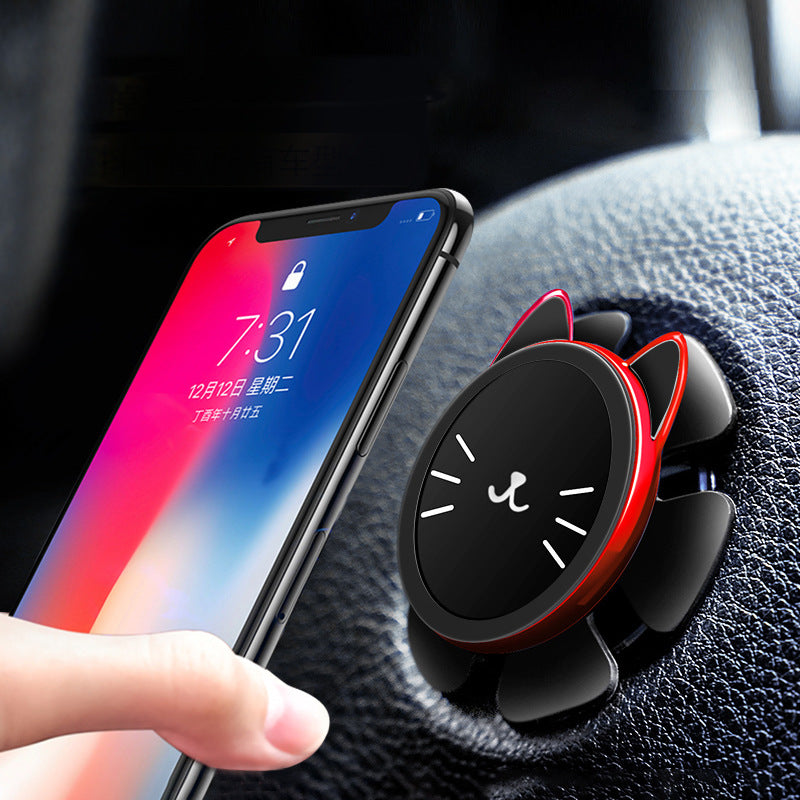 Lucky cat creative new steering wheel car phone holder car phone holder suction cup multi-function on-board navigation (4526382415981)