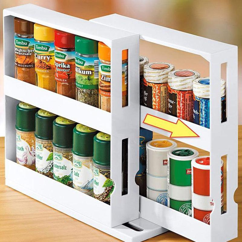 Multi-Function Storage Rack Food Storage Box Seasoning Box Rotating Seasoning Rack