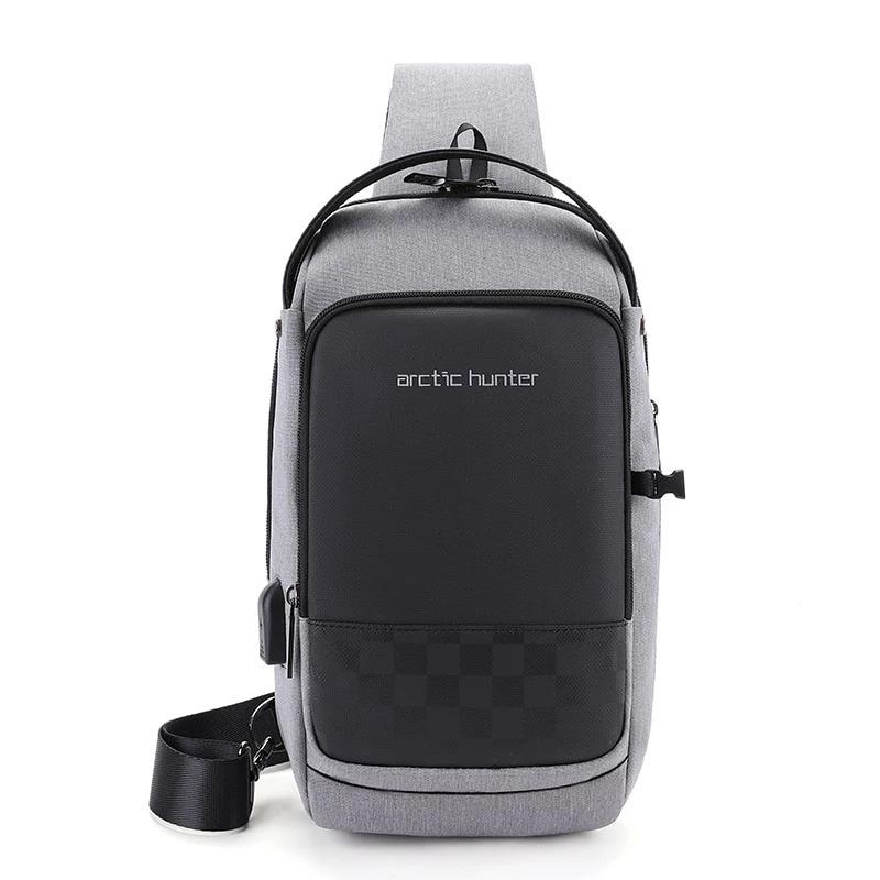 ARCTIC HUNTER 2019 USB Waterproof Men Chest Bag Male Leisure Messenger Shoulder Bag For Teenagers Travel Crossbody Bolsas (4319332302957)