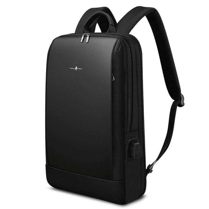 Slim Laptop Backpack Men 15.6 inch Office Work Men Backpack Business Bag Unisex Black Ultralight Backpack Thin Back Pack (4319334236269)