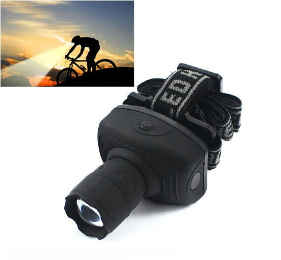 Brand New Hot Sale  600 Lumen Headlight LED Torch For Bikes Zoomable Hunting Light Torch Headlamp Useful Bright Camping Tool (4320293355629)