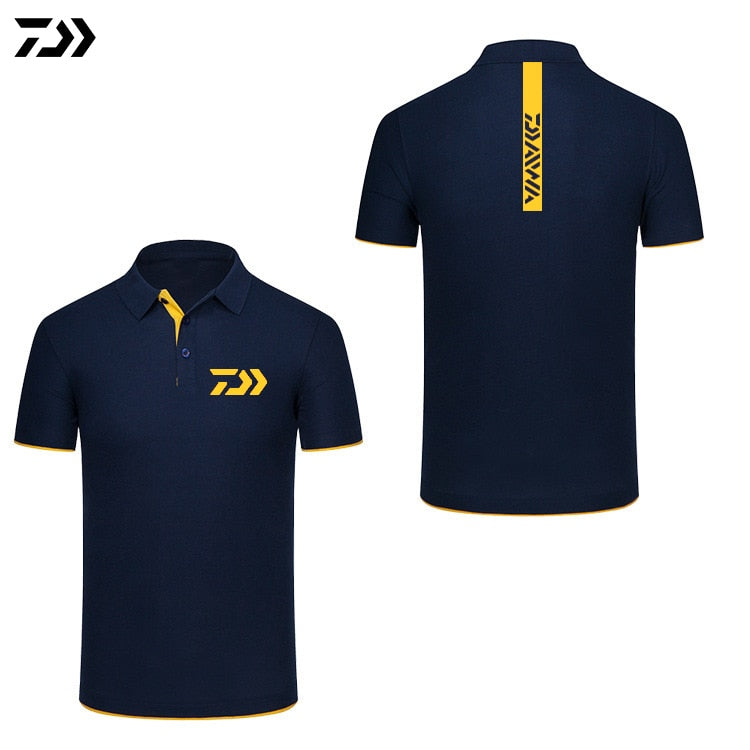 Daiwa Tshirt Brand New Fishing Polo Tee Quick Dry Breathable Sports Outdoor Men Clothing Fishing Short Sleeve Top Fishing Tshirt (4319305891949)