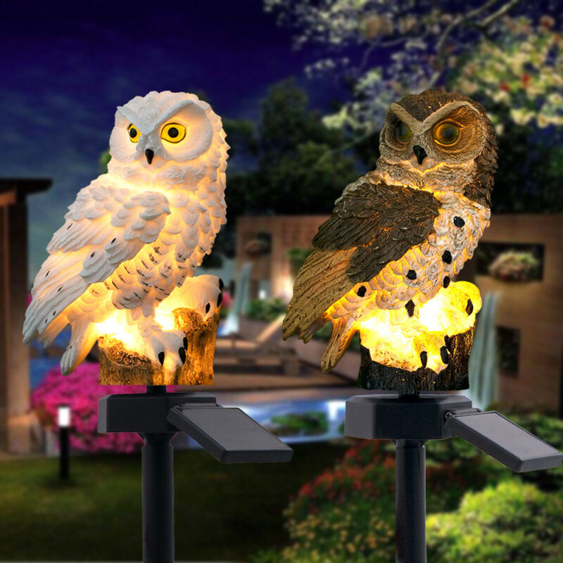 Owl LED Garden Lights Solar Night Lights Owl Shape Solar-Powered Lawn Lamp 2019 Night Lights Home Garden Creative Solar Lamps (4317100441709)