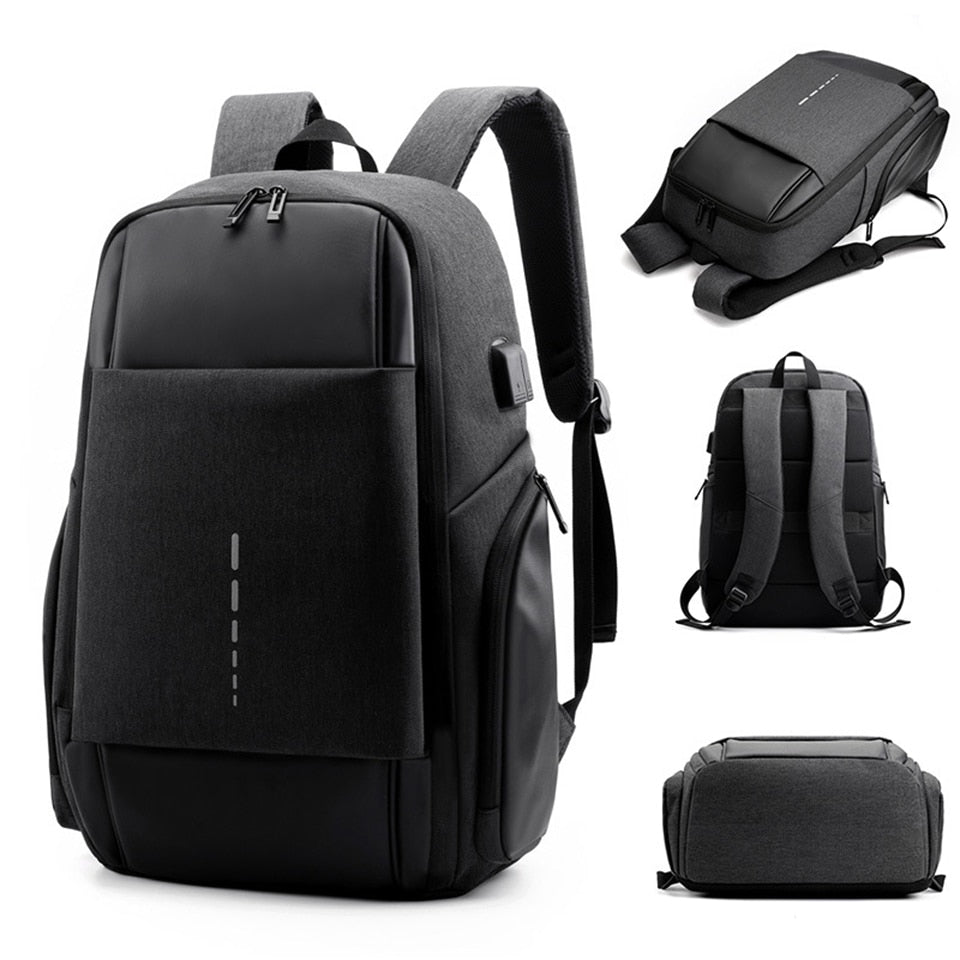 Women Backpack Business Laptop Back Pack Men Male 15.6 Notebook Waterproof Travel Bag Female OL USB Charging Bags School Bagpack (4319333974125)