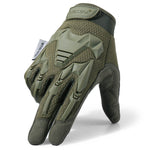 (កម្មង់មុន)-Tactical Military Gloves Army Paintball Shooting Airsoft Combat Bicycle Rubber Protective Anti-Skid Full Finger Glove Men Women (4319391219821)