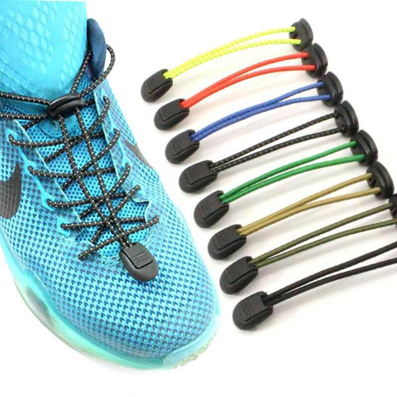 1 pair Elastic Lazy No Tie Shoelaces 8 colors Sport Runner Shoe Laces Easy Lock Reflective Unisex Shoelaces Shoes Accessories (4321546666093)