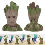 Flowerpot Fashion Vinyl Baby Groot Pen Pot Holder Plants Flower Pot Cute Action Figures Toys for Kids Gift Desktop Decoration (4317101195373)