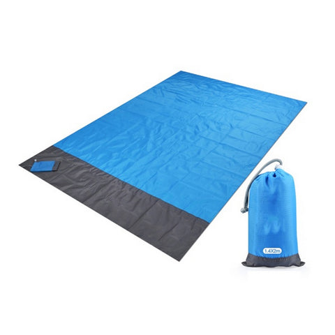 (កម្មង់មុន)-Waterproof Pocket beach mat Folding Camping Mat Portable Lightweight Mat Outdoor Picnic Mat Sand beach blanket new (4298453975149)
