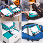 Gonex Travel Storage Bag 19inch Suitcase Luggage Organizer Set Hanging Compression Packing Cubes for Clothing Underwear Shoes (4298412458093)