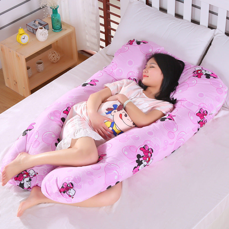 Pregnancy Pillow Side Sleeper Pregnant Women Bedding Full Body U-Shape Cushion Long Sleeping Multifunctional Maternity Pillows (4307658735725)