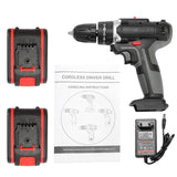 (កម្មង់មុន)-Cordless Drill Mini Wireless Power Driver DC Lithium-Ion Battery Rechargeable Handheld Drills Home DIY Electric Power Tools (4316990210157)