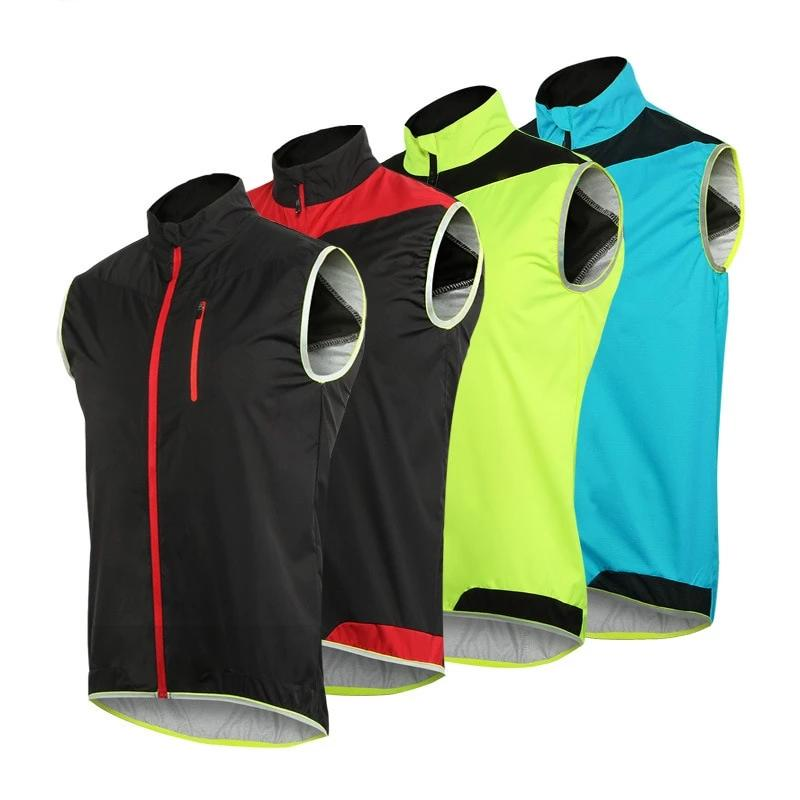 ARSUXEO Men Women Cycling Vest Windproof Waterproof Running Vest MTB Bike Bicycle Reflective Clothing Sleeveless Cycling Jacket (4307629408365)