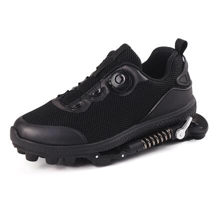 (កម្មង់មុន)-Mechanical Shoes With Steel Spring Wire Shoelace, 2 in 1 Sports Shoes, Shock Absorption Shoes (4320284606573)