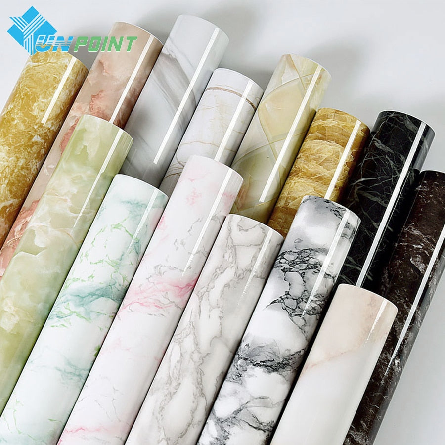 Self adhesive Marble Vinyl Wallpaper Roll Furniture Decorative Film Waterproof Wall Stickers for Kitchen Backsplash Home Decor (4320317571181)