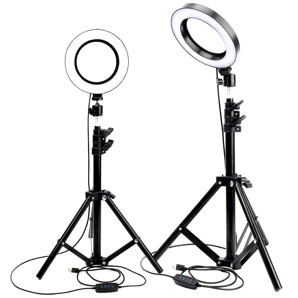 LED Ring Light Photo Studio Camera Light Photography Dimmable Video light for Youtube Makeup Selfie with Tripod Phone Holder (4313791922285)