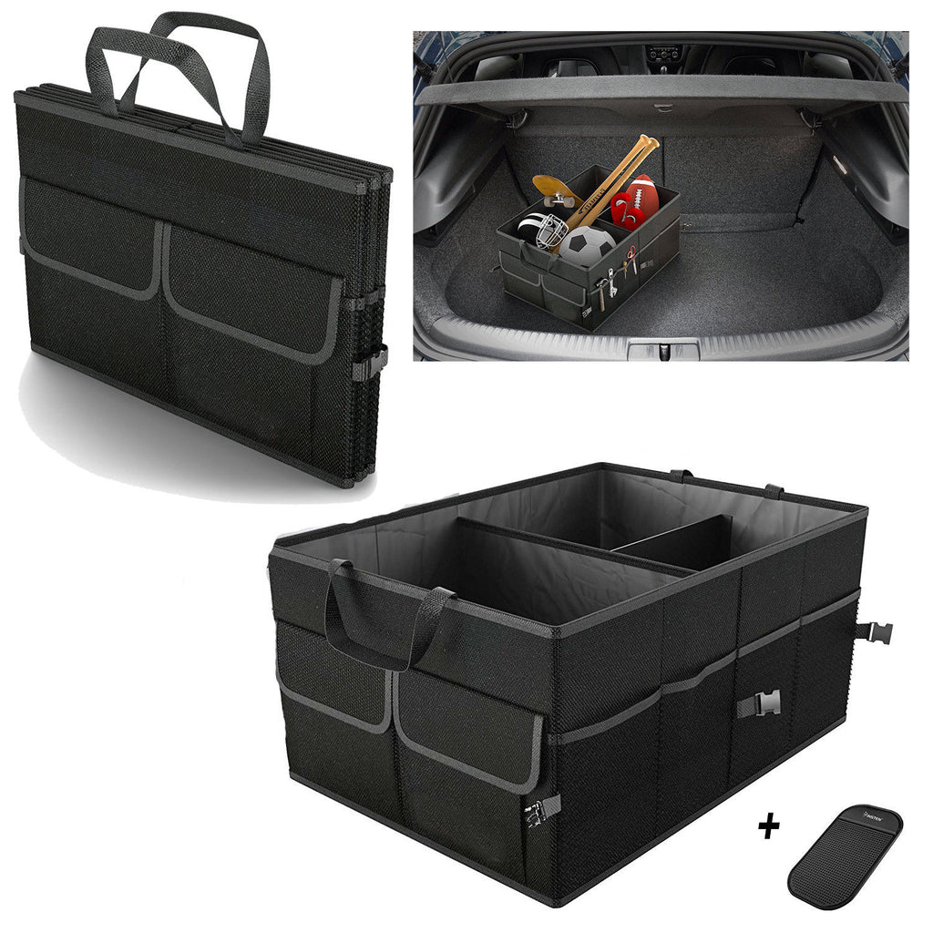 Newest On Stock Black Trunk Cargo Organizer Folding Caddy Storage Collapse Bag Bin for Car Truck SUV Useful Storage (4296255406189)