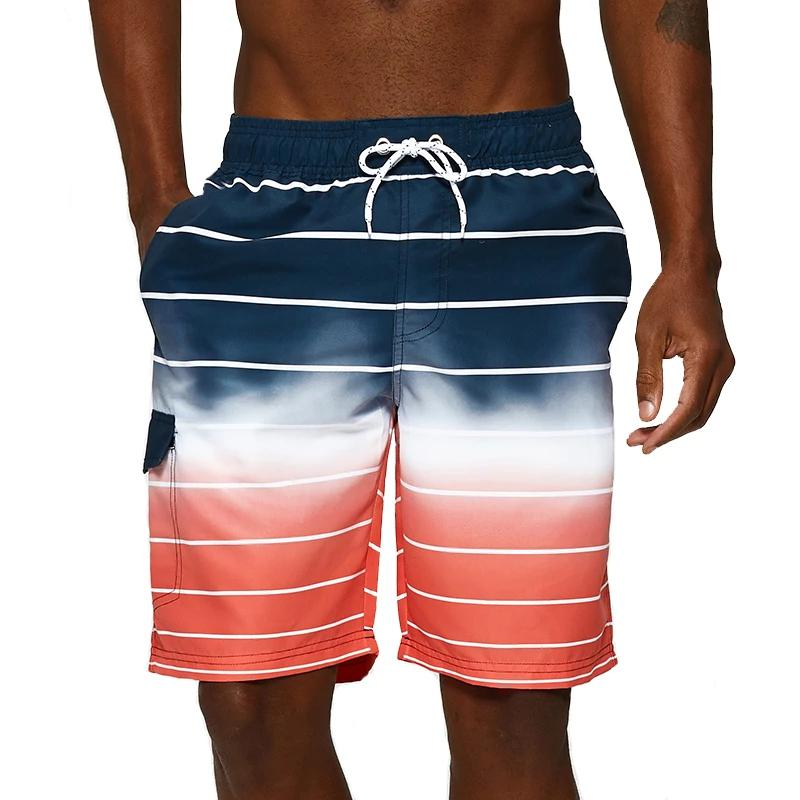 Datifer 2019 New Men's summer gradual change color beachwear high quality comfortable Board short homme swimming trunks (4297421029485)