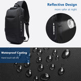 OZUKO 2019 New Multifunction Crossbody Bag for Men Anti-theft Shoulder Messenger Bags Male Waterproof Short Trip Chest Bag Pack (4318940463213)