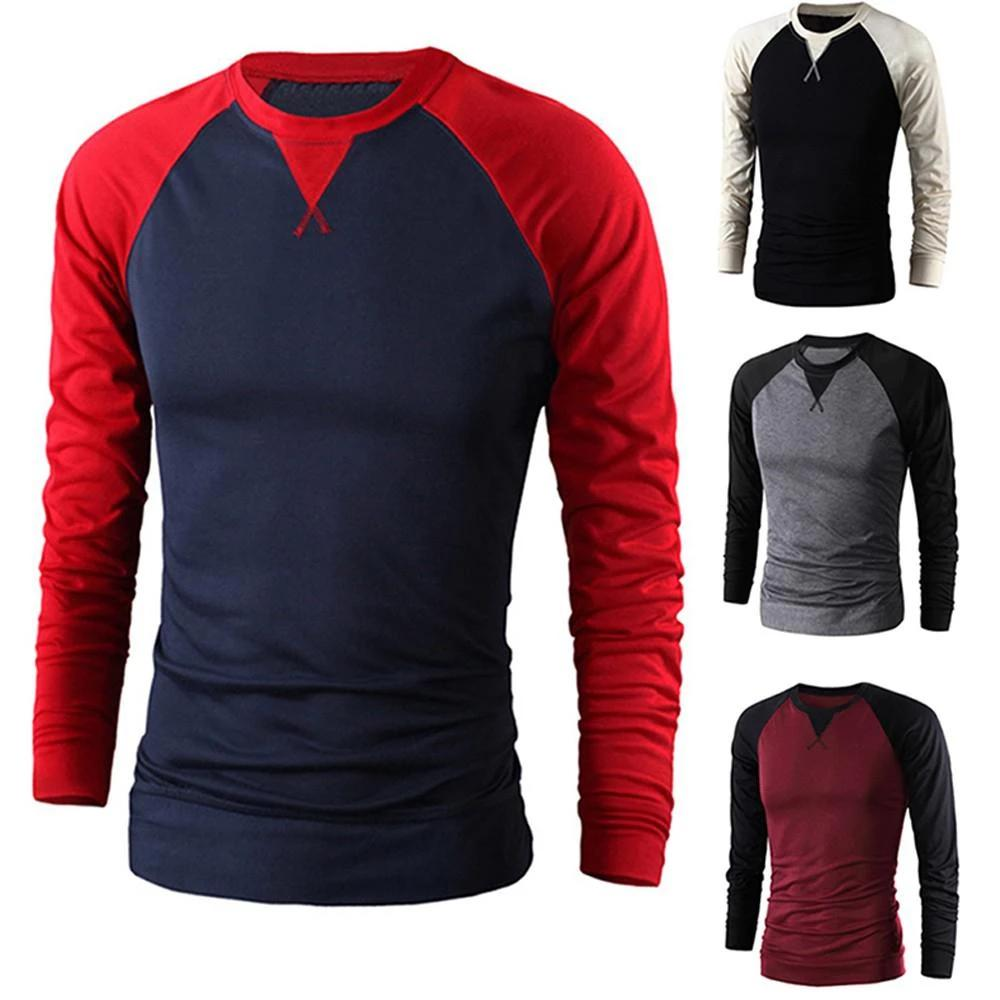 ZACOO Men Long Sleeve O-neck Baseball T Shirt Tees Causal Boys Autumn New Tops Casual Pullover Big size Men T shirt si0 (4297288286317)