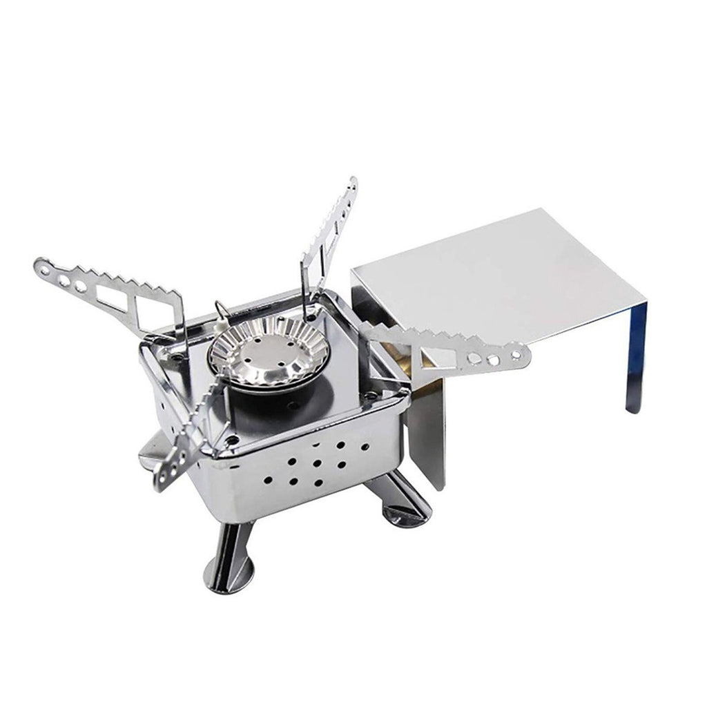 Outdoor Portable Mini Cassette Stove Camping Gas Stove Tea Cooking Stove Hiking Portable Split Stoves #T2G (Multicolor)