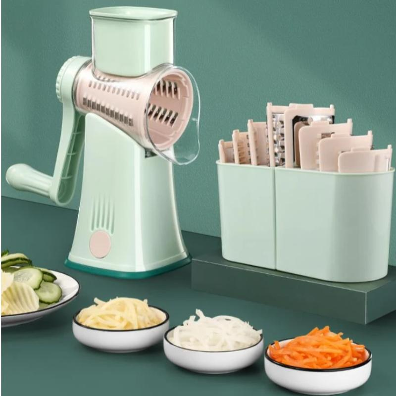 Multifunctional Hand Vegetable Cutter Potato Cheese Kitchen Tool slicer household shredder Meat Grinder Rotary Grater