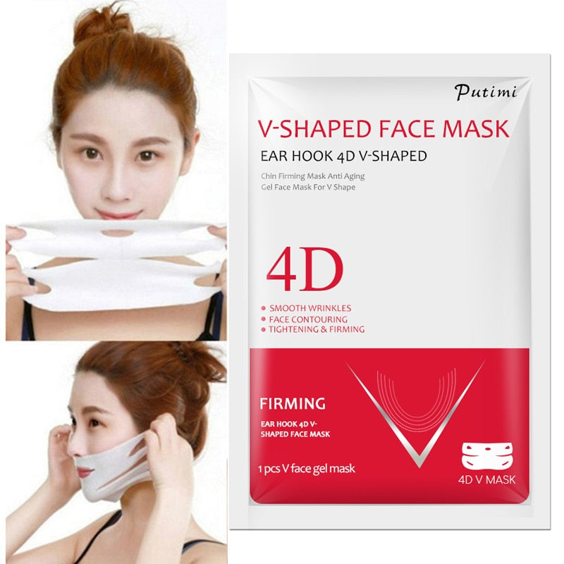 1pcs Lifting face masks V shape thin face chin check neck lift mask V Shape bandage slimming face skin care TSLM1 (4321552334957)