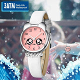 KDM Fashion Casual Girl Watch Kids Cute Leather Strap Watches Rhinestone Waterproof Lovely Kid Children Quartz Wristwatch Clock (4190982439021)