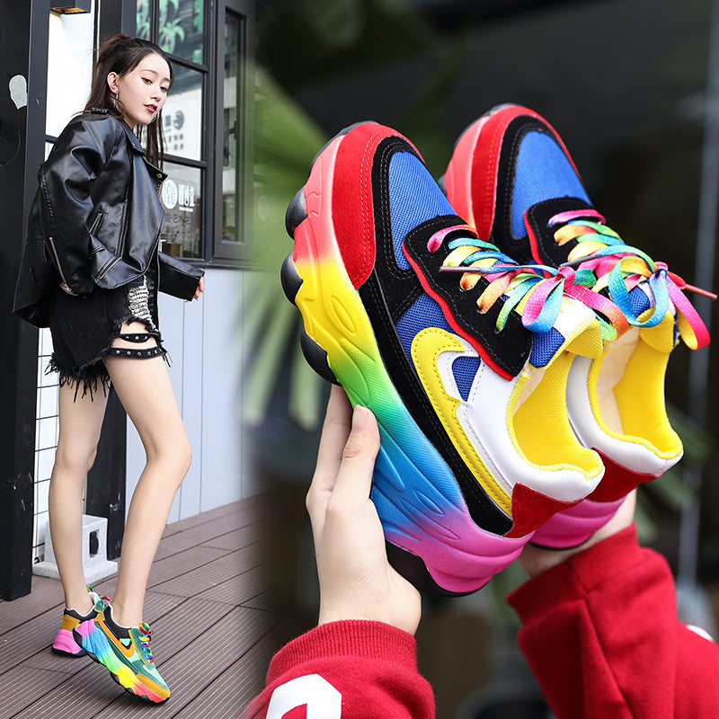Mixed colors casual shoes (4539578744941)