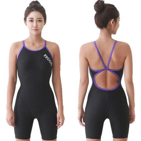 (កម្មង់មុន)-Unibody swimsuit women conservative three-legged swimsuit dried (4259839901805)