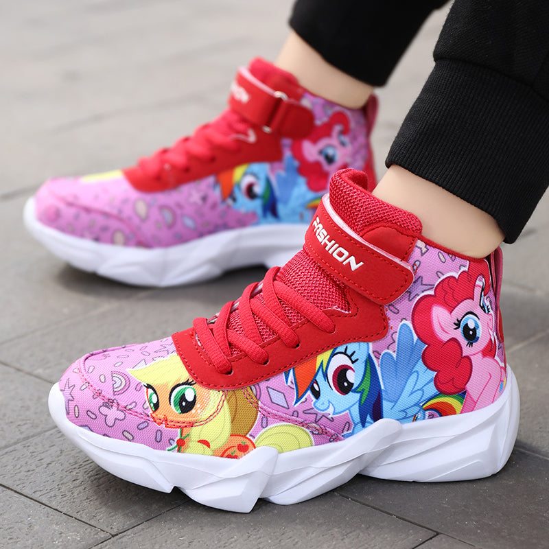 Basketball shoes autumn and winter new children's high-help sneakers
