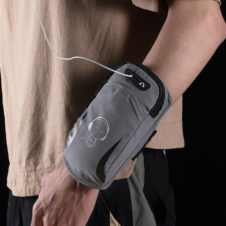 Running mobile phone arm bag outdoor mobile phone bag men's sports arm sleeve wrist arm with arm bag women's universal waterproof