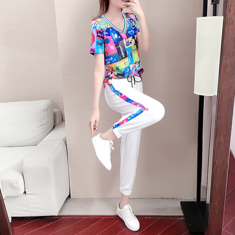 Casual sports suit women's 2020 new fashion style