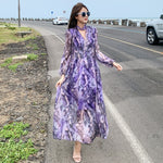 Seaside Skirt beach dress female 2019 new long-sleeved dress (4450301050989)