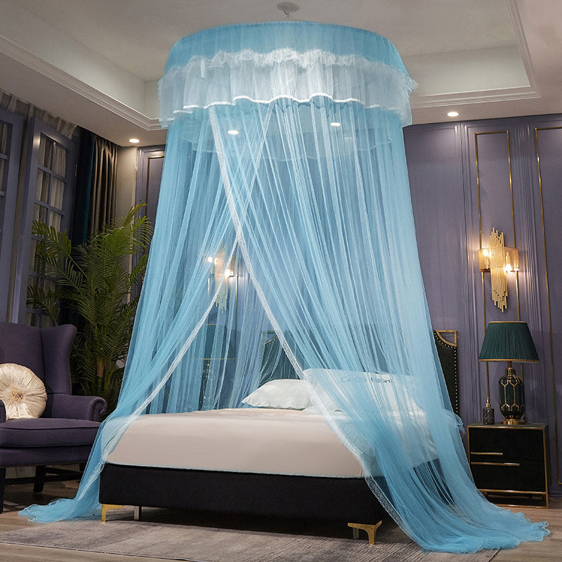 Ceiling dome princess wind encrypted mosquito net double household 1.5/1.8/2m bed floor ceiling free installation