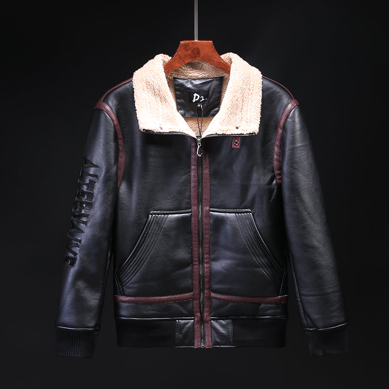 Men's  PU leather jacket (4518442500205)