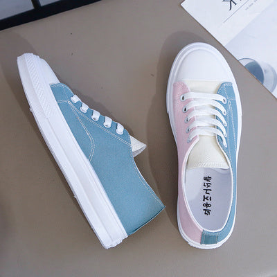 Small dirty orange canvas shoes Hong Kong style super fire mandarin duck shoes female 2019 popular trendy shoes students Korean version of all-match casual shoes
