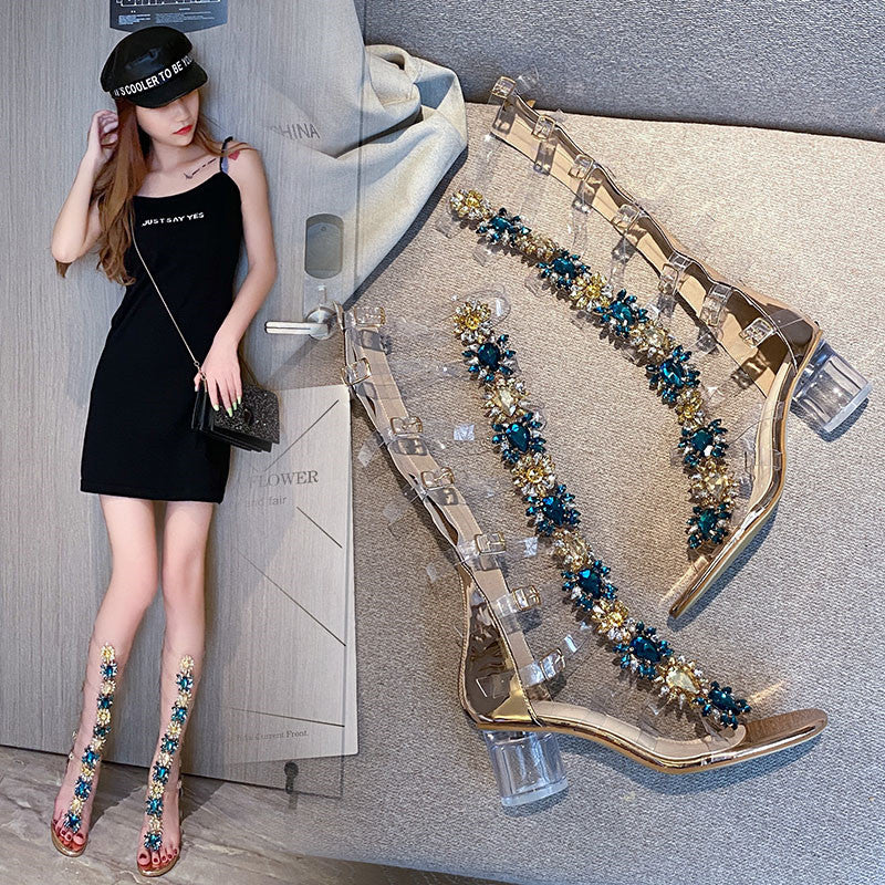 Fairy female sandals 2020  high-heeled cool boots