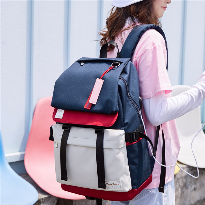 Schoolbag female Korean high school shoulder bag 2020 new wild junior high school students backpack computer bag large capacity (4517399625837)