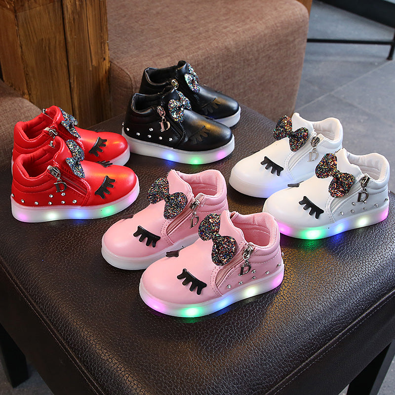 Korea Kid Sneakers lighting LED shoes  (4513969766509)