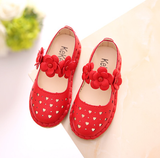Korean girls small leather shoes princess shoes soft bottom (4513999093869)