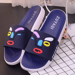 Home slippers indoor soft bottom non-slip bath home flat sandals (4514532950125)