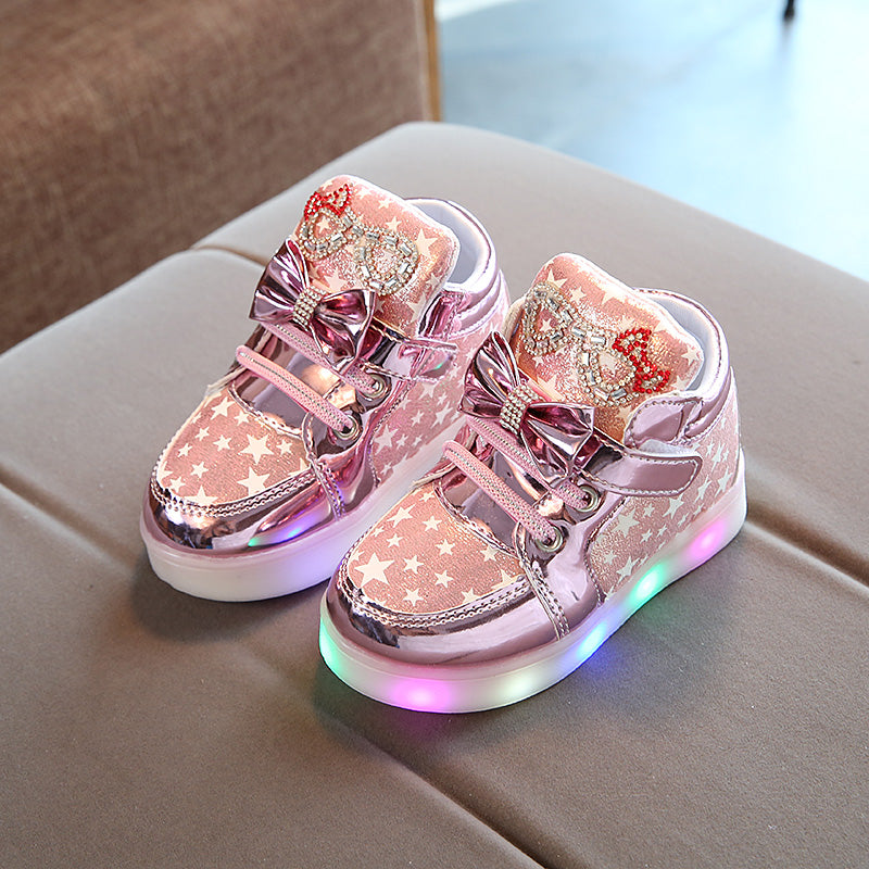 Children's shoes Spring 2019 new Korean version of the cartoon cat lit kityy baby girls shoes casual shoes tide (4518424674413)