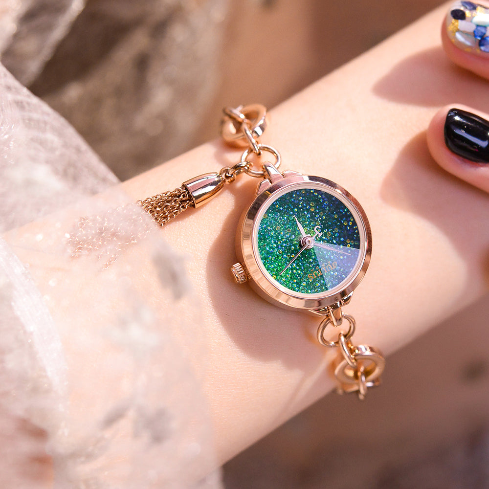 2020 new South Korea Juli time mini watch lady waterproof chain quartz watch meteorite starry sky